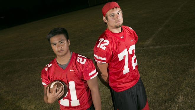 Athen Moyer (left) and Bryce Lutz (right) want to keep Buckeye Central football rolling