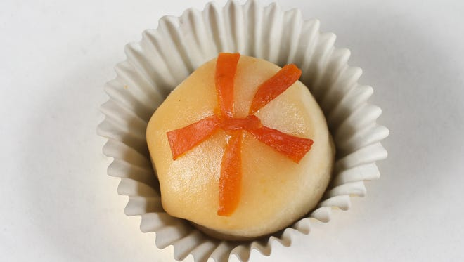 Apricot Almond Ginger Gems have a filling and glaze.