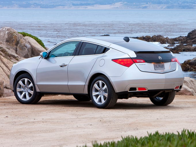 The Acura ZDX coupe-like hatchback sedan crossover.