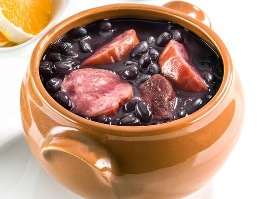 Feijoada is a Brazilian dish made from black beans