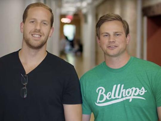 Bellhops CEO Stephen Vlahos and President Cameron Doody