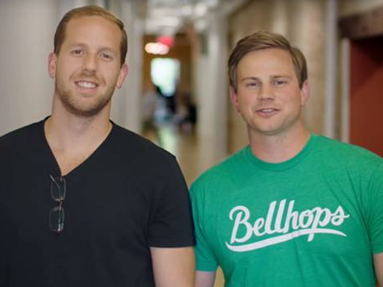 Bellhops CEO Stephen Vlahos and President Cameron Doody