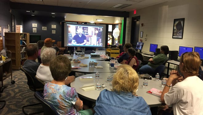 Members of Vineland Public Library's Cozy Mystery Book Club enjoyed a video chat program with author Mildred Abbott, pen name for Brandon Witt, on July 16.