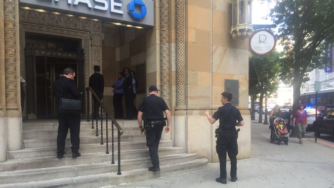 Police responded to a bank robbery at the Chase bank branch in downtown White Plains on Wednesday afternoon.