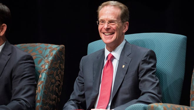 Ball State President Geoffrey S. Mearns is officially marked as the 17th president of Ball State University Sept. 8 during his instillation ceremony at Emens Auditorium.
