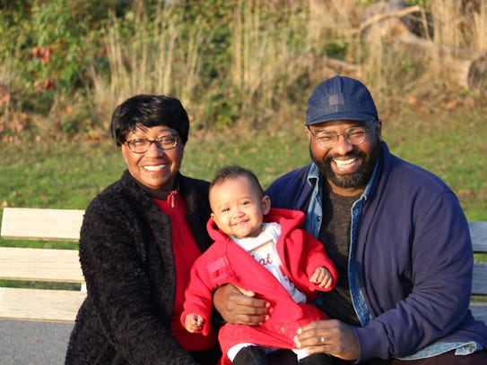 Dorothy Ngongang, her son Decker and her granddaughter