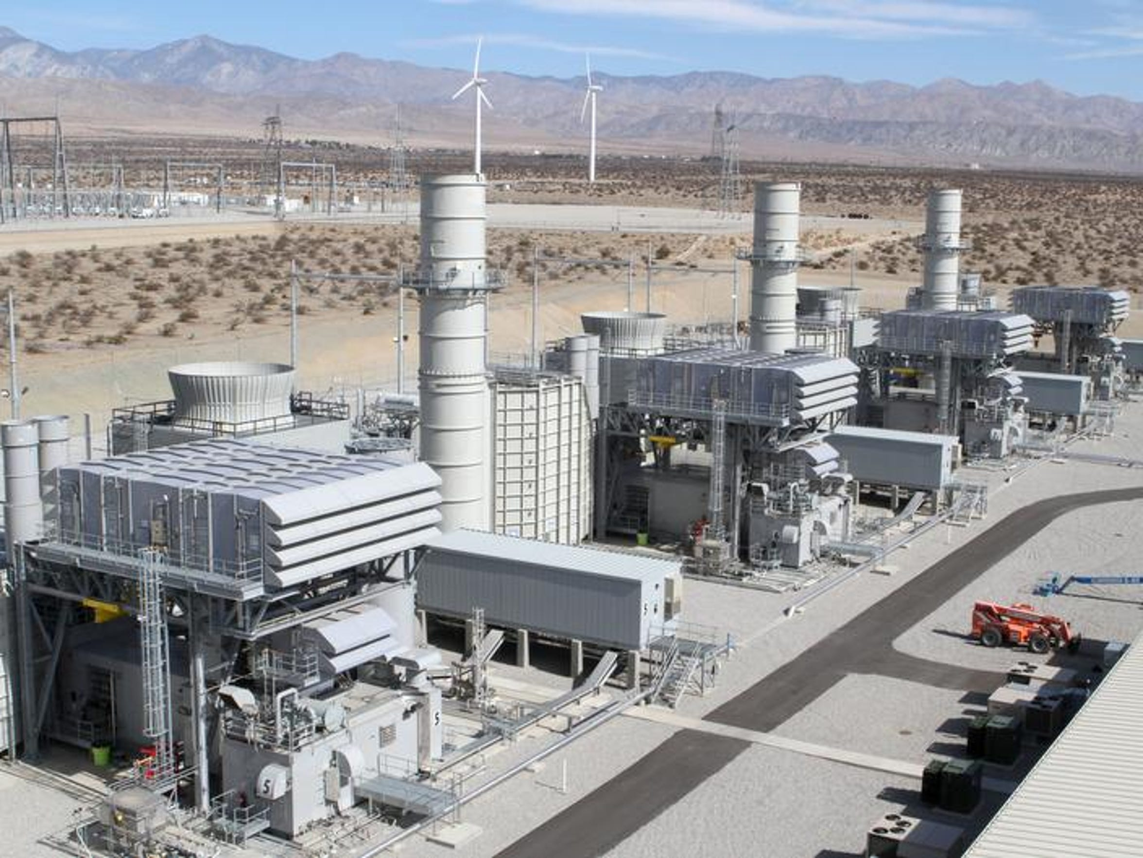 The natural gas-fired Sentinel power plant in Desert