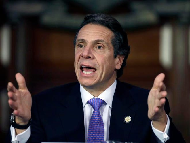 New York Gov. Andrew Cuomo speaks during a Moreland Commission meeting in January.