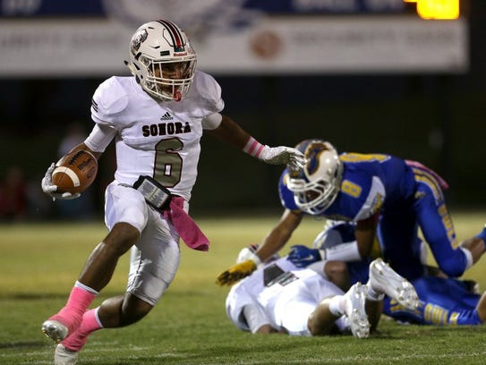 Sonora's Jarrett Jackson rushed for 230 yards and four