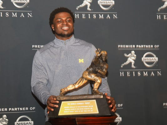 Four of the five Heisman Trophy finalists gave inteviews during a press event preceding tomorrow night's announcement of the Heisman Trophy winner.