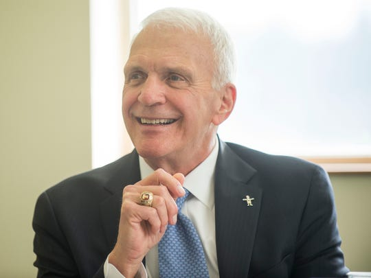 Knox County Schools Superintendent finalist Bob Thomas on Monday, March 6, 2017.