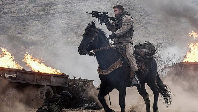 """Chris Hemsworth stars in """"12 Strong,""""  opening Jan. 18 at Regal West Manchester Stadium 13 and Frank Theatres Queensgate Stadium 13,"""