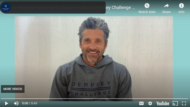 Patrick Dempsey shared more about the reimagined Dempsey Challenge in a video message which can be found on YouTube at