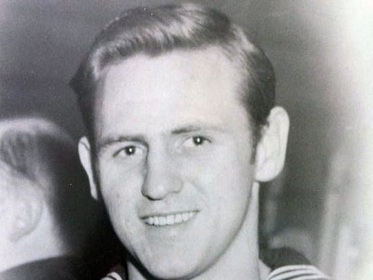 "Cory ""Sonny"" Hartbarger, formerly of Waynesboro, during his service in the Navy."