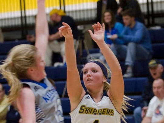 Armada High School graduate Caitlyn Carlson is headed to University of Michigan Dearborn after playing at St. Clair County Community College the past two years.