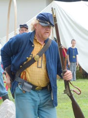 Reenactors gave living history demonstrations.