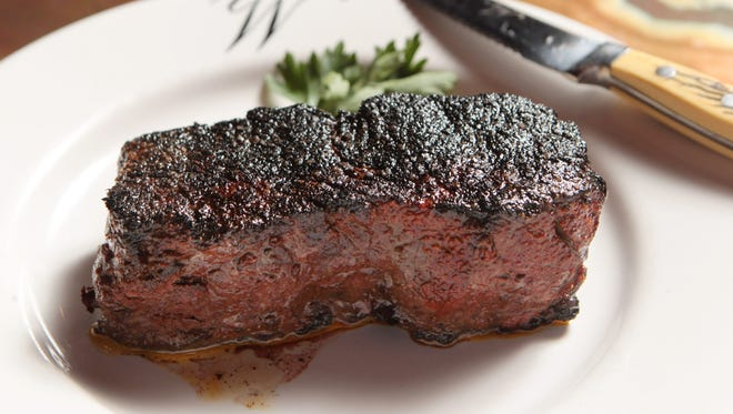 A 16-ounce New York strip steak at Walt's Hitching Post in Fort Wright.