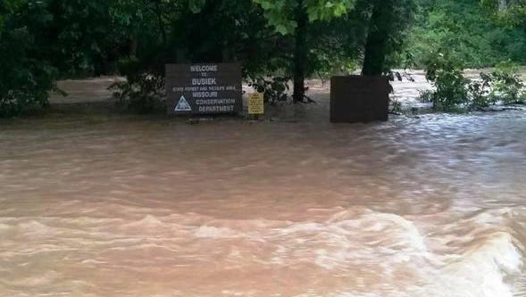 Heavy rain Friday morning sent high water surging through the Missouri Department of Conservation's Busiek State Forest and Wildlife Area in Christian County. Damage caused by this flooding has forced the temporary closure of the Busiek Area's unstaffed shooting range.