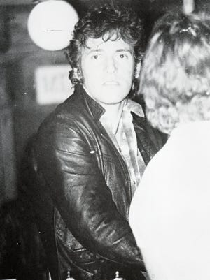 Bruce Springsteen at the Fast Lane in Asbury Park on March 25, 1979, watching The Ramones,