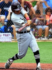 Sinton's Mike Mendez bats against Salado during the region IV-4A semifinals last season in San Marcos.