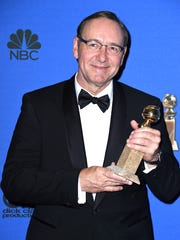 Actor Kevin Spacey, best actor for TV drama 'House of Cards,' poses in the press room during the 72nd annual Golden Globe Awards on Jan. 11, 2015.