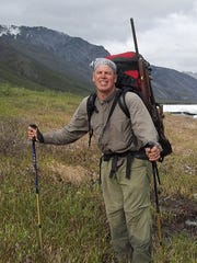 Author James Campbell backpacks through Alaska's Brooks Range in summer 2014.