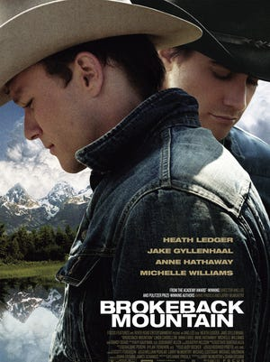 """The promotional poster for """"Brokeback Mountain."""""""
