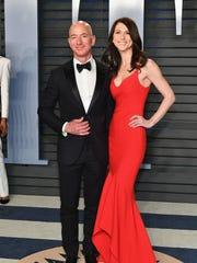 Jeff Bezos and MacKenzie Bezos attend the 2018 Vanity