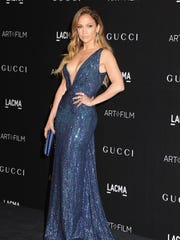 Jennifer Lopez took the plunge with her dress from