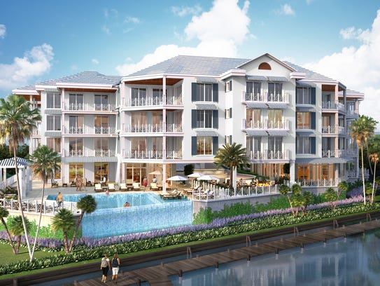 This rendering shows a proposed Stuart condo complex.