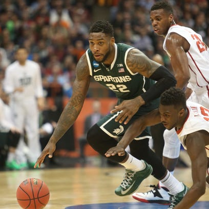 Michigan State's Branden Dawson gets the steal against
