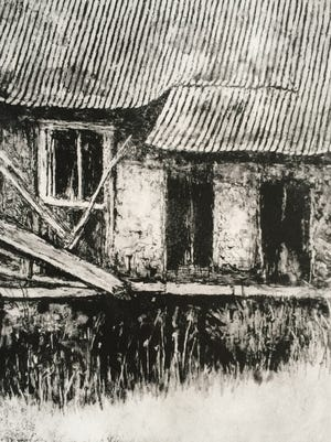 """Hot Tin Roof,"" a print by Dorothy Yoh, a member of Penn's Woods Printmakers"