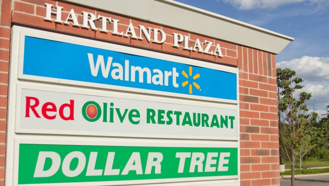 The Hartland Plaza is home to, among other retailers, a Walmart.