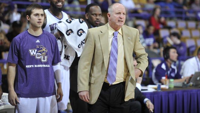 Western Carolina coach Larry Hunter,