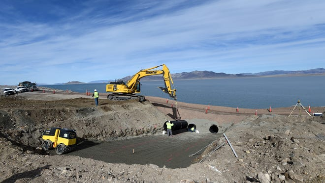 NDOT works on repairing the Sutcliffe HWY and replacing the culverts that washed away during the recent flooding.