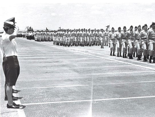 Norma Brown at Goodfellow Air Force Base while serving