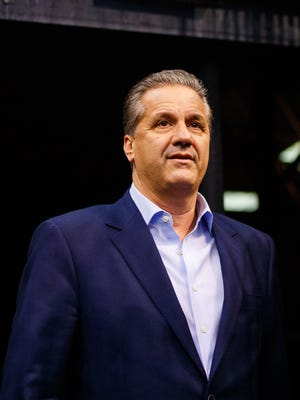 Kentucky Wildcats basketball head coach John Calipari in attendance of the Phoenix Suns game against the Los Angeles Clippers at Talking Stick Resort Arena.