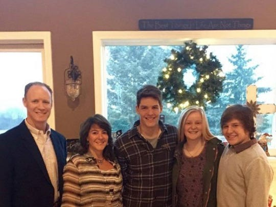 The Harbrecht family at Christmas in 2015, just days