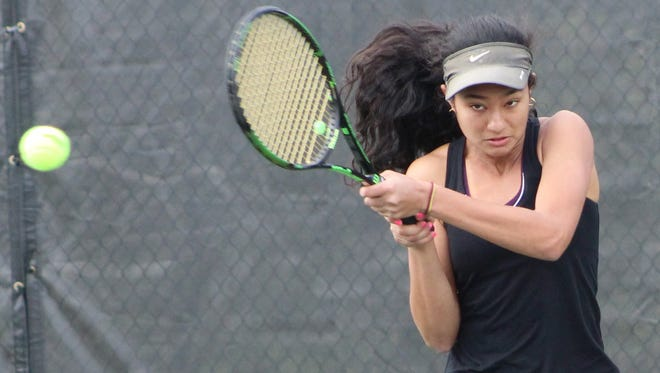 Bloomfield Hills junior Tia Mukherjee captured the No. 1 flight singles title in the Division 1 girls tennis state tournament.