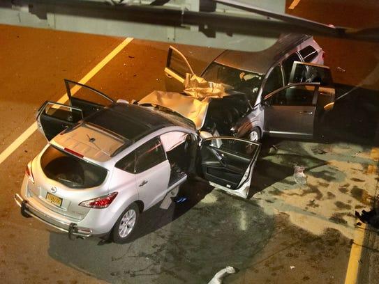 5:58 a.m. A wrong-way crash shut the northbound Bronx