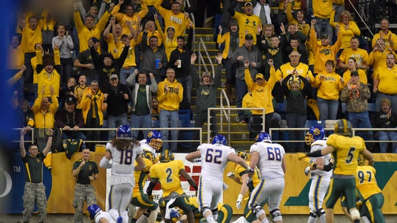 Scenes from the NCAA Division I Football Quarterfinals featuring SDSU vs. NDSU at the Fargodome on Sat., Dec. 10, 2016.