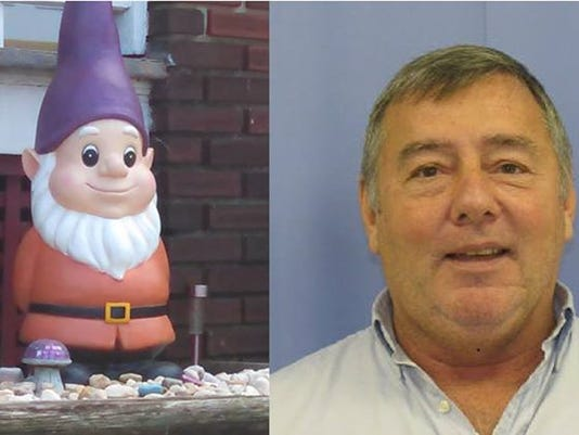 """West York Borough Police say Rocky Shaffer stole garden decorations from people's yards early Friday morning. """"Gorde"""" the Garden Gnome was reportedly not stolen."""