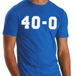 Louisville resident David Son sells 40-0 T-shirts.