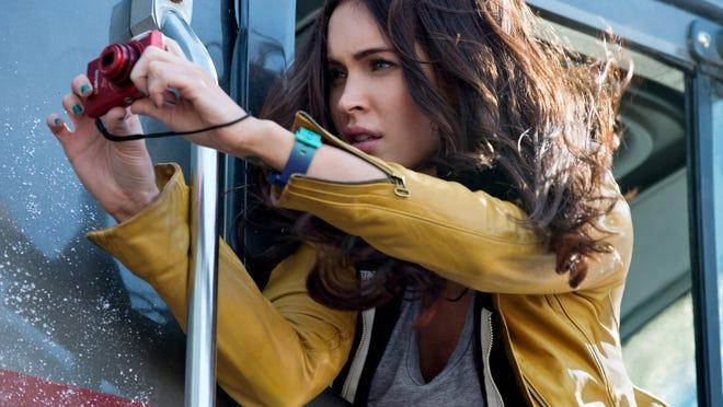 "Megan Fox appears in a scene from ""Teenage Mutant Ninja Turtles."""