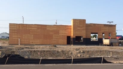 The Sonic Drive-In under construction in Irondequoit.