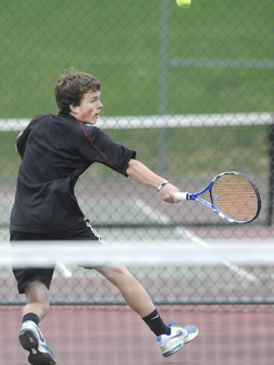 South Western's Anthony Miserendino won last season's YAIAA Class AAA boys' tennis singles tournament championship.  (DAILY RECORD/SUNDAY NEWS -- FILE)