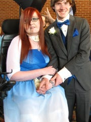 Family members and caregivers made McKensie Teal's dream come true on April 4, when she was able to attend the prom with her boyfriend, Alex Troha, who lives in Georgia.