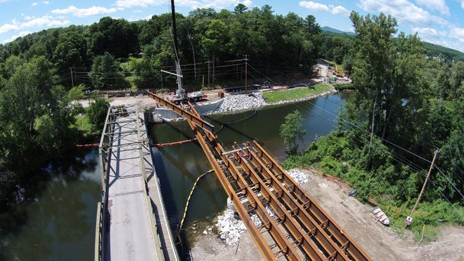 A new bridge is being constructed on Dorr Drive in Rutland.