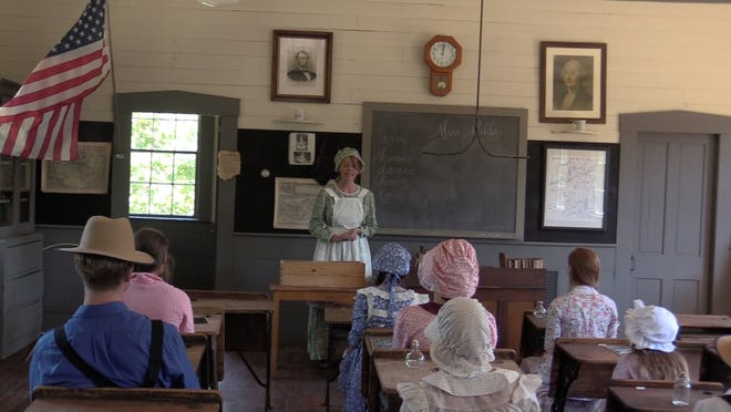 "A scene from the film ""Red Fever,"" shot in the #2 Schoolhouse in Charlton."