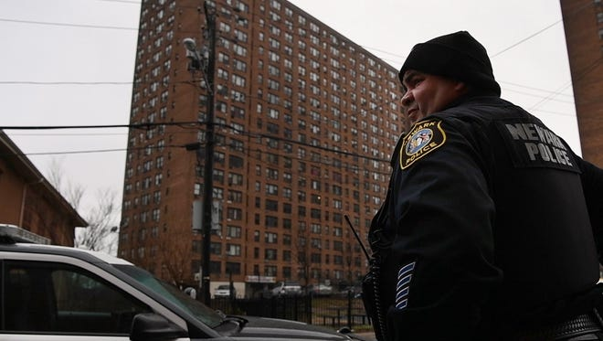 In 2014, a federal investigation found widespread abuse in the Newark Police Department. In response, the city started a 15-hour police training program where cops and residents share stories about trauma. Edwin Padilla, Newark Police Department Patrol Officer, completed the training. Padilla on patrol in Newark on Friday, January 12, 2018.